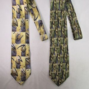 Jerry Garcia Men's Silk Ties Lot of (2)